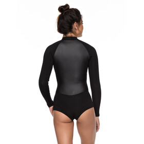 Roxy 1.0 Satin Cheeky Spring B-Lock Front Zip Long Sleeve Wetsuit Women Black